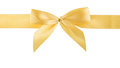 Golden ribbon isolated cutout on white background Royalty Free Stock Images