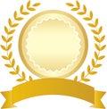 Golden ribbon and laurel