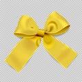 Golden ribbon on transparent background