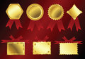 Golden ribbons Royalty Free Stock Photography