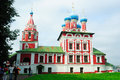 Golden ring of russia church of prince tsarevitch czarevitch dimitry on blood in uglich the was built at the place the murder son Royalty Free Stock Photo