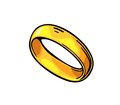 Golden ring. Vintage black vector engraving illustration