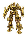Golden robot Royalty Free Stock Photo