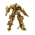 Golden robot Stock Photos