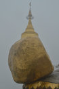 Golden rock burma myanmar located high in the mountains Stock Photography