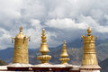 Golden roof the of drepung monastery Royalty Free Stock Images
