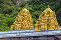 Golden roof on Indian temple in Batu Caves, Kuala Lumpur Royalty Free Stock Photo