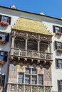 The golden roof in innsbruck austria goldenes dachl completed with fire gilded copper tiles for emperor maximilian i to mark his Royalty Free Stock Image