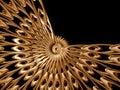Golden rosette Royalty Free Stock Photo