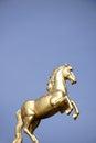 Golden Ross sculpture Mainz