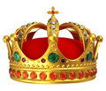 Golden royal crown Stock Photos
