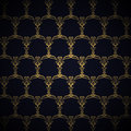 Golden royal pattern on blue background navy Stock Photo