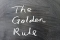 The golden rule Royalty Free Stock Photo