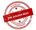 THE GOLDEN RULE distressed red stamp. Royalty Free Stock Photo