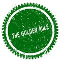 THE GOLDEN RULE round grunge green stamp Royalty Free Stock Photo