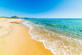 Golden sand in Costa Rei Royalty Free Stock Photo