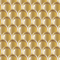 Golden scale pattern seamless volume Stock Photography