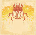 Golden Scarab background Stock Photography