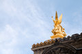 Sculpture on roof of Paris Opera Royalty Free Stock Photo
