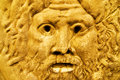 Golden sculpture of Zeus Stock Photography