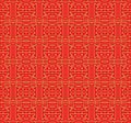 Golden seamless Chinese square line geometry lattice window tracery pattern background. Royalty Free Stock Photo