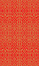 Golden seamless Chinese window tracery lattice geometry square line pattern background. Royalty Free Stock Photo