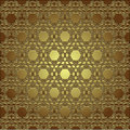 Golden seamless eastern ornament Royalty Free Stock Photos