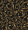 Golden seamless floral background Royalty Free Stock Image