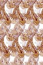 Golden seamless pattern with peacock feathers. Vintage seamless ornament in Golden colors. Decorative ornament backdrop for fabric Royalty Free Stock Photo