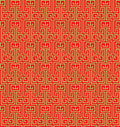 Golden seamless vintage Chinese window tracery pattern background.
