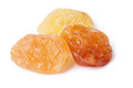 Golden seedless raisins natural from california dried treated grapes retouched large depth of field Stock Images