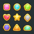 Golden shapes set.