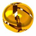 Golden Shattered Sphere