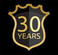 Golden shield years vector illustration of Stock Image