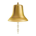 Golden ship's bell Stock Images