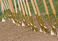 Golden Shovels Stock Photos