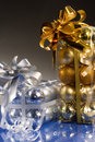 Golden and silver balls Royalty Free Stock Photos