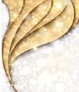Golden and silver Christmas background with lights Stock Photography