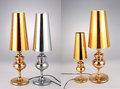Golden and silver Table lamps,Luxury table lights Royalty Free Stock Photo