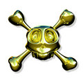 Golden skull Stock Images
