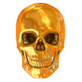 Golden skull isolated Royalty Free Stock Photo