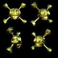 Golden skulls Royalty Free Stock Photo