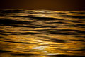 Golden smooth waves at sea Royalty Free Stock Photo