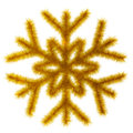 Golden snowflake 3d. Royalty Free Stock Images