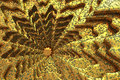 Golden snowflake unusual background textured gold ornament Royalty Free Stock Image
