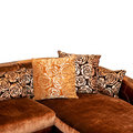 Golden sofa corner Royalty Free Stock Image