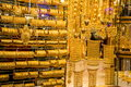 Golden souk in Dubai Royalty Free Stock Photo