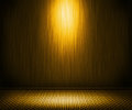 Golden Spotlight Metal Interior Background Stock Image