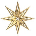 Golden Star Royalty Free Stock Photos