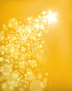 Golden star background a shooting with bright lights Royalty Free Stock Photo